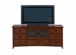 "Mission Hill Oak 70"" TV Stand 2 Doors  - 037-9"