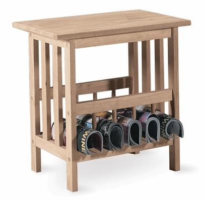 Mission Magazine End Table - 9836