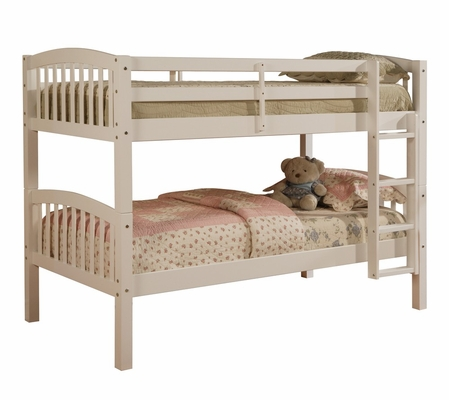 Mission Style Bunk Bed White - Linon Furniture - 90152WHT-KD-U