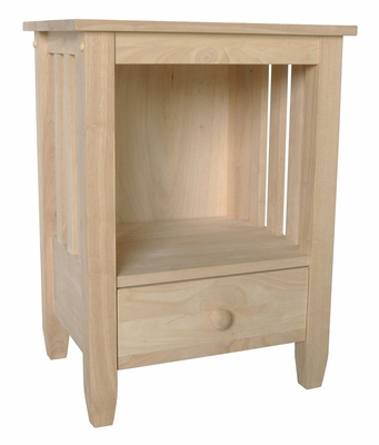 Mission Tall End Table with Drawer - BJ6TD