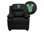 Mississippi Valley State University Devils Black Leather Kids Recliner - BT-7985-KID-BK-LEA-41053-EMB-GG