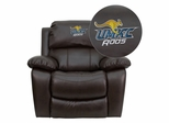 Missouri Kansas City Kangaroo Leather Rocker Recliner - MEN-DA3439-91-BRN-41086-EMB-GG