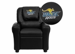Missouri, Kansas City Kangaroos Embroidered Black Vinyl Kids Recliner - DG-ULT-KID-BK-41086-EMB-GG