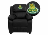 Missouri Southern State University Lions Embroidered Black Leather Kids Recliner - BT-7985-KID-BK-LEA-41054-EMB-GG
