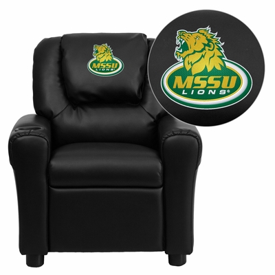Missouri Southern State University Lions Embroidered Black Vinyl Kids Recliner - DG-ULT-KID-BK-41054-EMB-GG