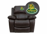 Missouri Southern State University Lions Leather Rocker Recliner  - MEN-DA3439-91-BRN-41054-EMB-GG