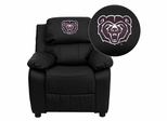 Missouri State University Bears Embroidered Black Leather Kids Recliner - BT-7985-KID-BK-LEA-40009-EMB-GG