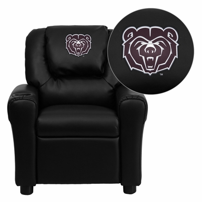 Missouri State University Bears Embroidered Black Vinyl Kids Recliner - DG-ULT-KID-BK-40009-EMB-GG