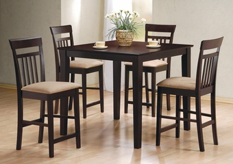 Mix & Match 5PC Counter Height Dining Set in Cappuccino - 150041