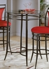 Mix 'N' Match Bistro Table with Glass Top - Hillsdale Furniture