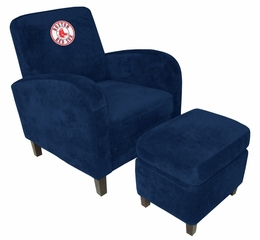 MLB Boston Red Sox Den Chair with Ottoman - Imperial International - 126523