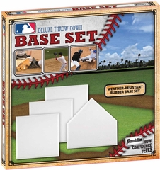 MLB Deluxe 4-Piece Throw-Down Rubber Base Set - Franklin Sports