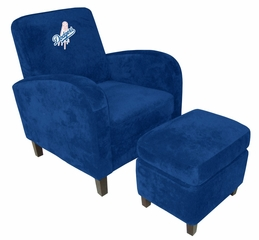 MLB Los Angeles Dodgers Den Chair with Ottoman - Imperial International - 126511