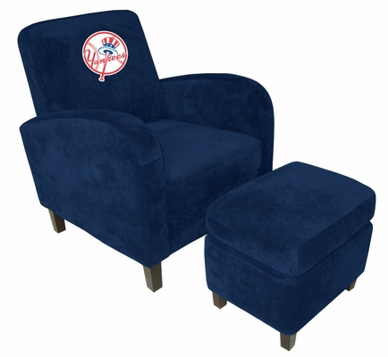 MLB New York Yankees Den Chair with Ottoman - Imperial International - 126530