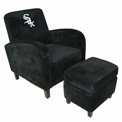 MLB White Sox Den Chair with Ottoman - Imperial International - 126529