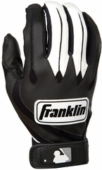 MLB Youth Series Black / White Youth Batting Glove Pair - Franklin Sports