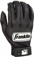 MLB Youth Series Black Youth Batting Glove Pair - Franklin Sports