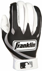 MLB Youth Series White / Black Youth Batting Glove Pair - Franklin Sports