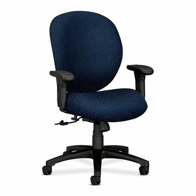 Mngr. Mid-Back Chair - Black Frm / Navy - HON7622BW90T