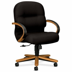 Mngrl Mid-Back Chair - Medium Oak/Black - HON2192MNT10
