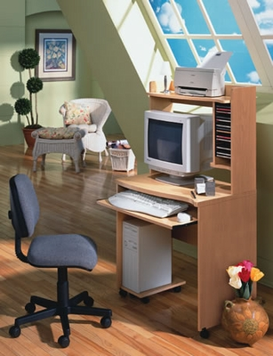 Mobile Computer Cart - Nexera Furniture - 5103