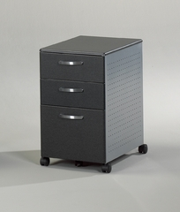 Mobile File Cabinet in Anthracite/Metallic Gray - Mayline Office Furniture - 992ANT