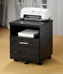 Mobile File Cabinet in Black - Coaster