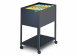Mobile File Cabinet in Black - Mayline Office Furniture - 9P600BLK