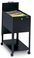 Mobile File Cabinet in Black - Mayline Office Furniture - 9P610BLK