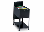 Mobile File Cabinet in Black - Mayline Office Furniture - 9P611BLK