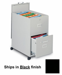 Mobile File Cabinet in Black - Mayline Office Furniture - 9P620BLK