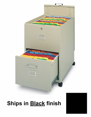 Mobile File Cabinet in Black - Mayline Office Furniture - 9P621BLK