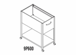Mobile File Cabinet in Gray Value 1 - Mayline Office Furniture - 9P600GV1