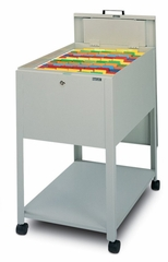 Mobile File Cabinet in Gray Value 1 - Mayline Office Furniture - 9P611GV1