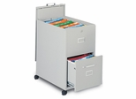 Mobile File Cabinet in Gray Value 1 - Mayline Office Furniture - 9P620GV1