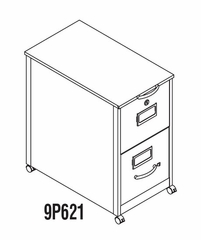 Mobile File Cabinet in Gray Value 1 - Mayline Office Furniture - 9P621GV1