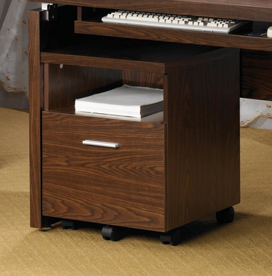 Mobile File Cabinet in Oak - Coaster