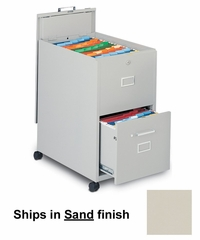 Mobile File Cabinet in Sand - Mayline Office Furniture - 9P620SND
