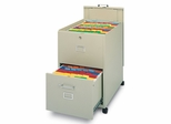 Mobile File Cabinet in Sand - Mayline Office Furniture - 9P621SND