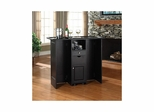 Mobile Folding Bar in Black - CROSLEY-CF4003-BK
