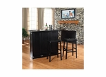 "Mobile Folding Bar in Black With 29"" Saddle Stool - CROSLEY-KF400034BK"