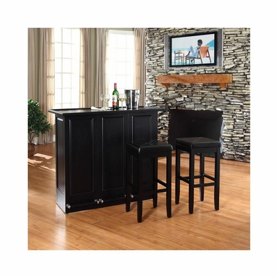 Mobile Folding Bar in Black With 29