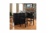 "Mobile Folding Bar in Black With 30"" X-Back Stool - CROSLEY-KF400033BK"