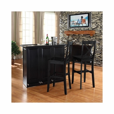 Mobile Folding Bar in Black With 30