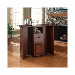 Mobile Folding Bar in Vintage Mahogany - CROSLEY-CF4003-MA