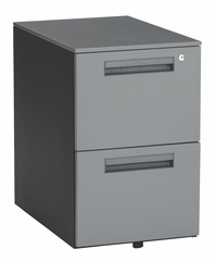 "Mobile Pedestal with 2 Drawers 15.5"" X 23"" - Gray - OFM - 66200"