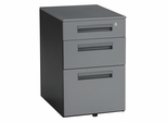 "Mobile Pedestal with 3 Drawers 15.5"" X 23"" - Gray - OFM - 66300"