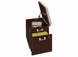 Mobile Pedestal with Cushion - Quantum Harvest Cherry Collection - Bush Office Furniture - QT211FCS