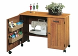 Mobile Sewing / Craft Cart American Cherry - Sauder Furniture - 400367