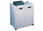 Mobile Utility Cabinet in Nebula Gray - Mayline Office Furniture - 2110MUNGRBLK